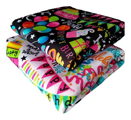 mantel cumpleaños pack 2 unidades 1,00 x 1,55 mtrs
