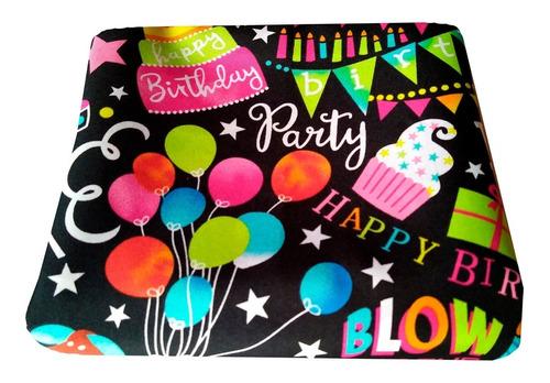 mantel cumpleaños pack 2 unidades 1,55 x 1,55 mtrs