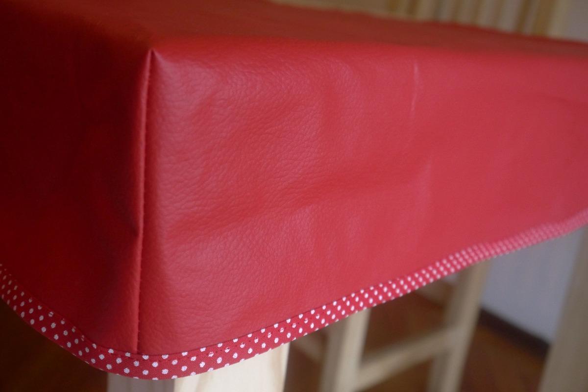mantel de ecocuero para encastrar en mesa de x