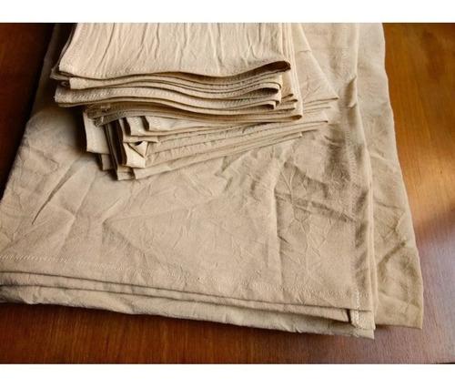 mantel de lienzo color natural 150x105