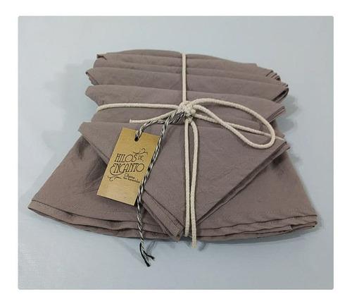 mantel de lienzo tusor color vison redondo 1.40