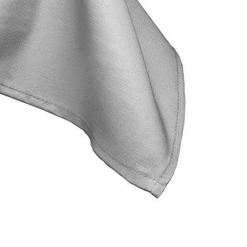 mantel de lino 85inch mantel cuadrado de poliéster plata