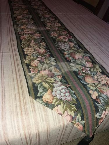 mantel de lino camino de mesa navidad