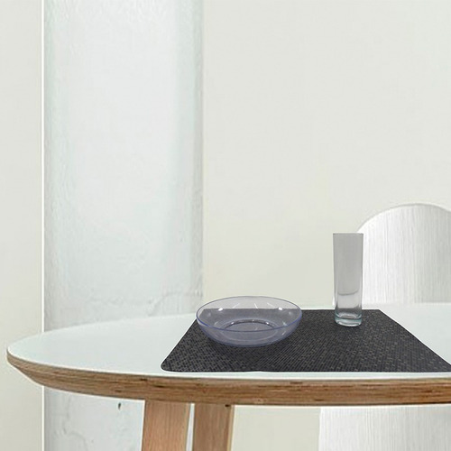 mantel de mesa individual tridimensional negro namaro design