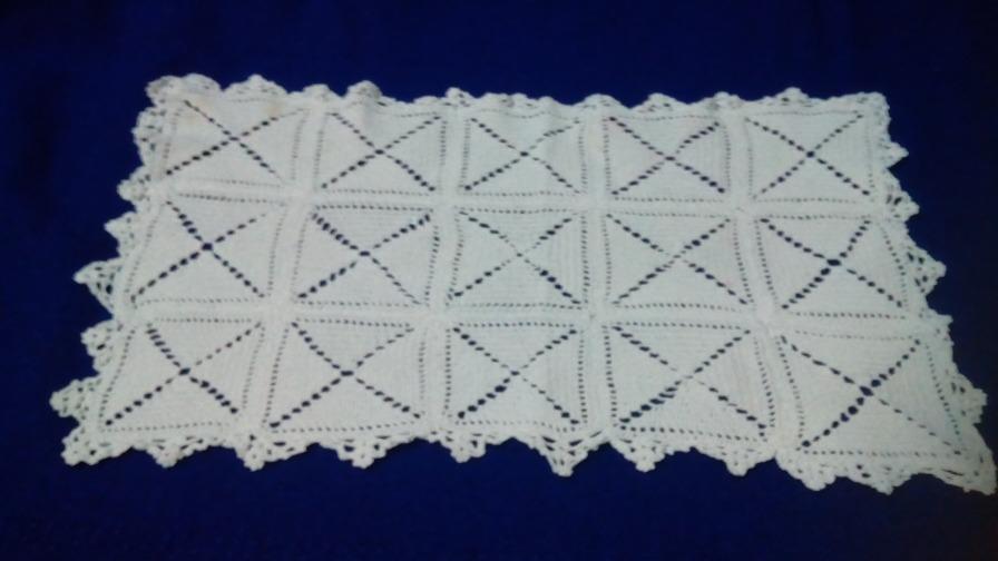 Mantel En Crochet Rectangular Blanco - Bs. 16.000,00 en Mercado Libre