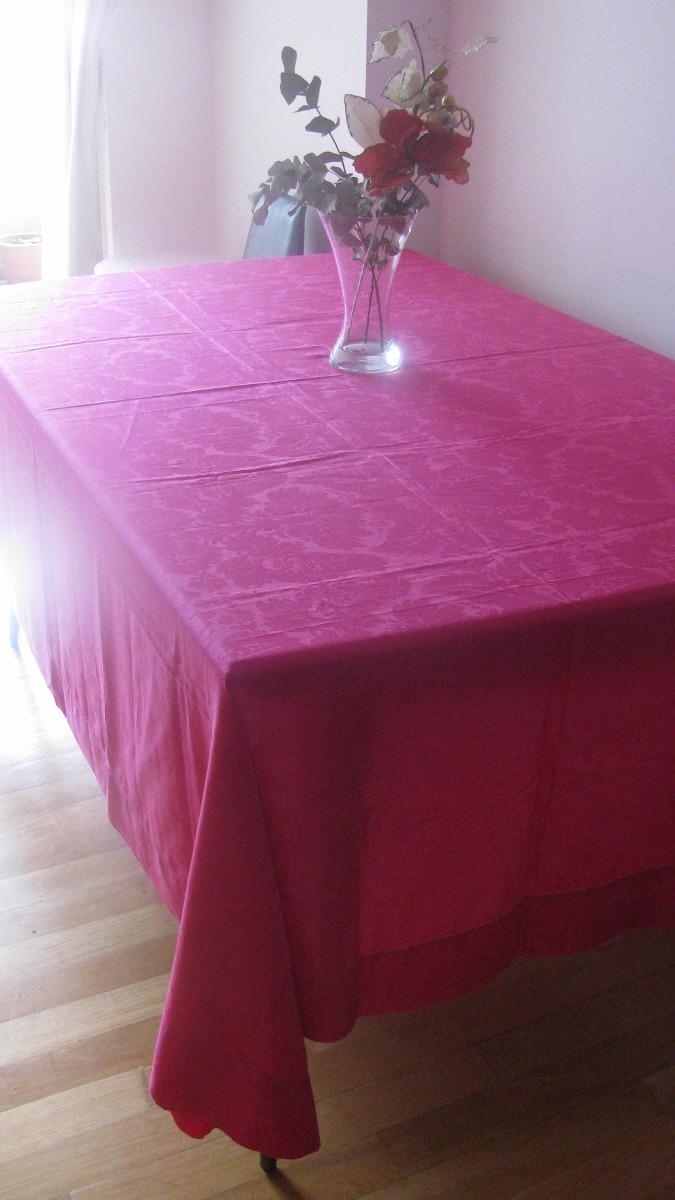 Mantel Fucsia Zara Home Nuevo 1 70 X 2 50 Precioso 690 00 En
