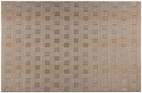 mantel individual conjunto de 4/6 de la tela escocesa del m
