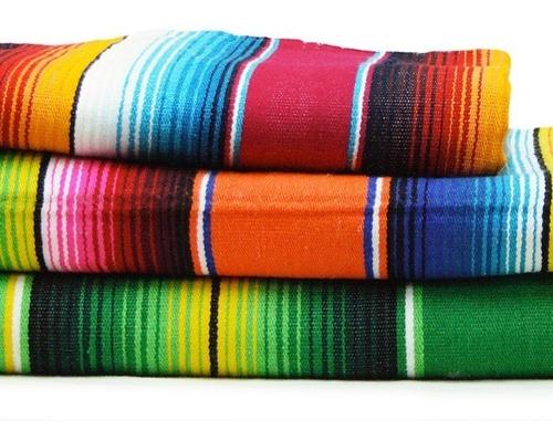 mantel individual sarape saltillo artesanía mexicana 40x40cm