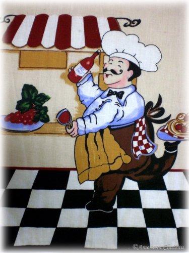 mantel individual set 4 pc francés gordo chef de cocina man
