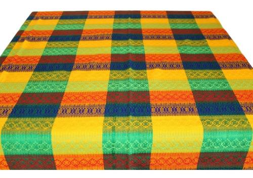 mantel mexicano artesonado 1.5 mts x 1.5 mts