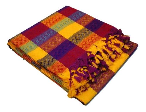 mantel mexicano multicolor cuadrado 1.5 x 1.5 mts 4 sillas