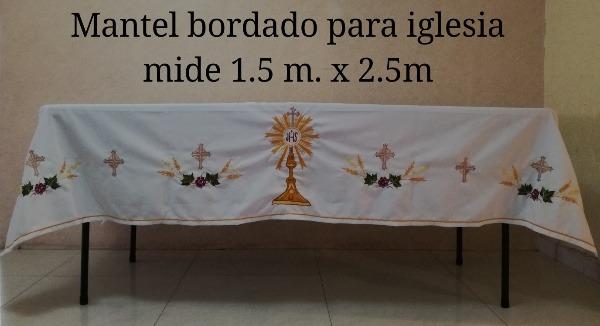 Mantel Para Altar De Sacrificiobordado Con Custodia 135000 En - Manteles-para-bordar