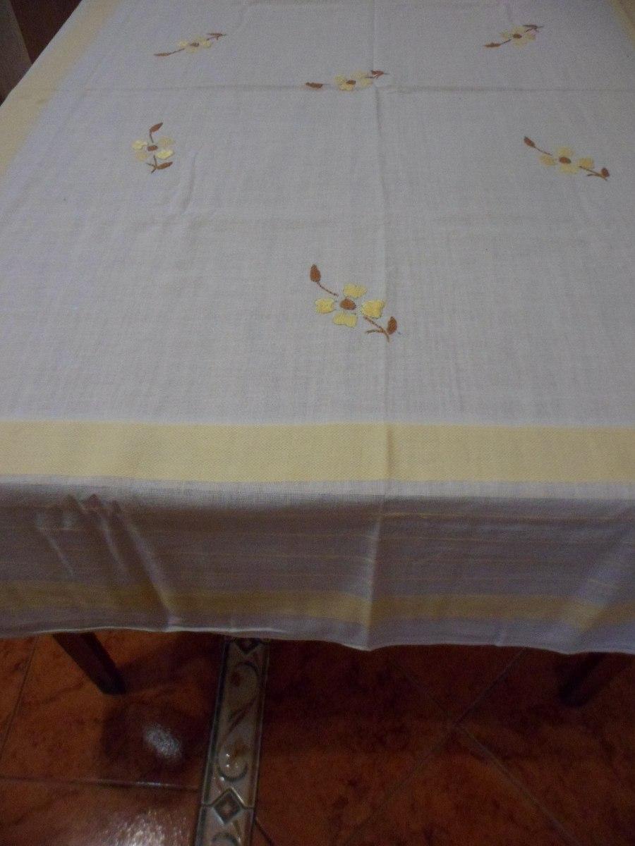 Mantel Para Te Hilo Italiano Bordado A Mano 6 Servilletas 750 - Manteles-para-bordar