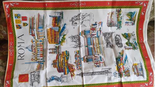 mantel pequeño o paño de algodón 87x56 cm