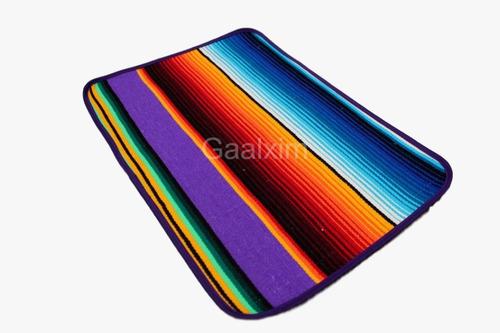 mantel personal sarape mexicano con orilla 32x45 cms (8pack)