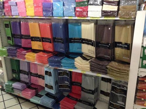 mantel plástico rectangular fiesta desechable reusable color