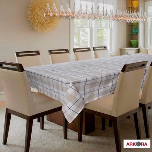 mantel rectangular 150x270 beige arkora mesa comedor 7011109