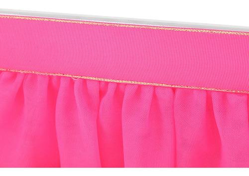 mantel redondo de mesa rectangular falda 183*78cm-rosa rojo