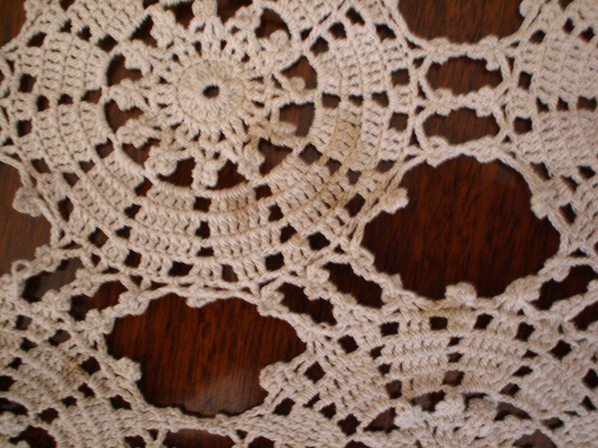 Mantel tejido crochet beige 8 en mercado libre - Mantel de crochet ...