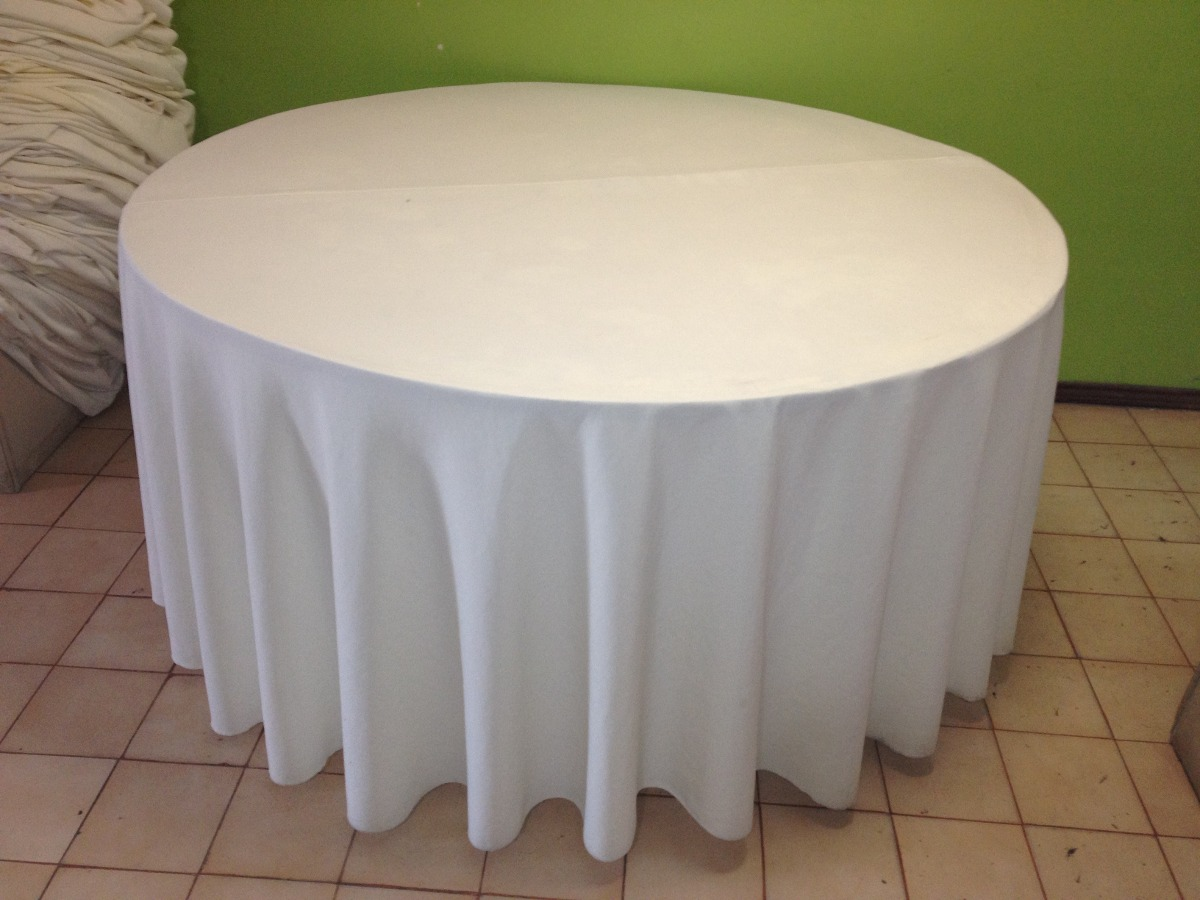 Manteles para mesa redonda manteles rosario alquiler for Caminos para mesas redondas