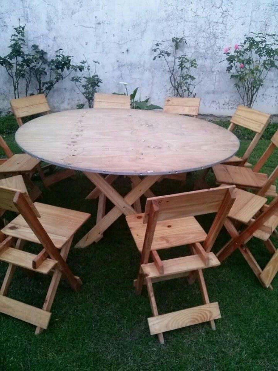 Alquiler de vajilla manteleria mesas y sillas en tigre for Alquiler mesas sillas