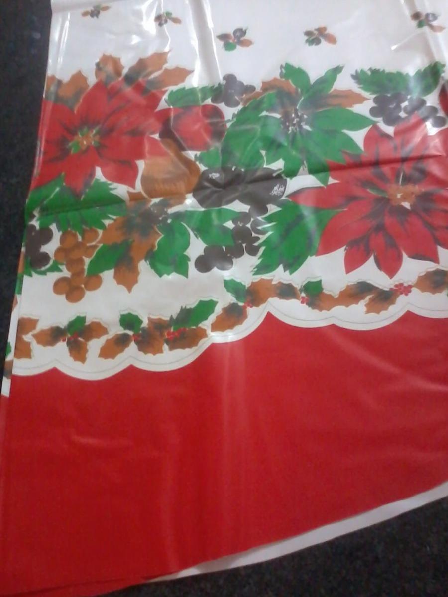 manteles de navidad navideos plasticos sillas redondo