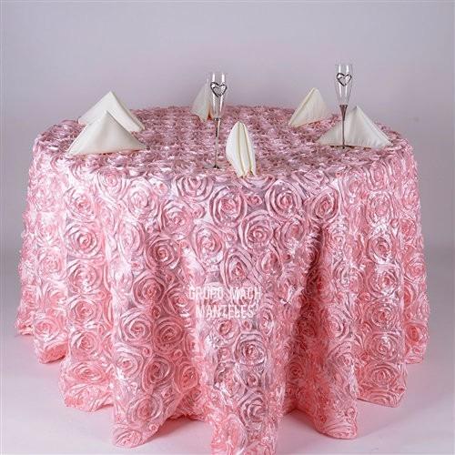 Manteles de rosas manteles redondos manteles para for Manteles para mesas redondas