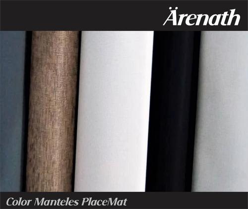 manteles individuales color mixto arenath set 4 45 x 35cm