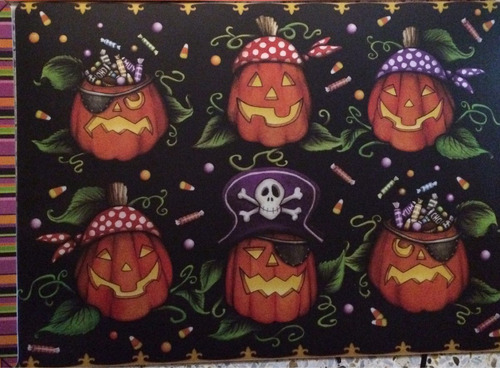 manteles individuales halloween comedor cocina fiestas 2 vrd