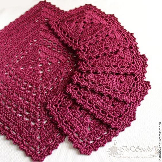 manteles individuales tejidos a mano en crochet bs 1 500 00 en
