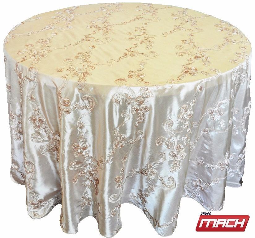 Manteles para mesa redonda manteles para eventos for Manteles para mesas redondas