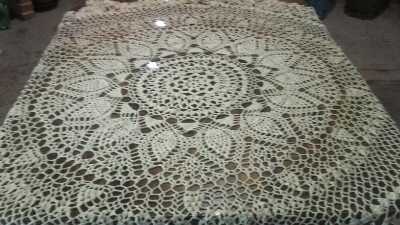 Manteles Tejidos Crochet Macrame - $ 3.100,00 en Mercado Libre