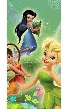manteles,tinker bell y el plástico mantel fairies