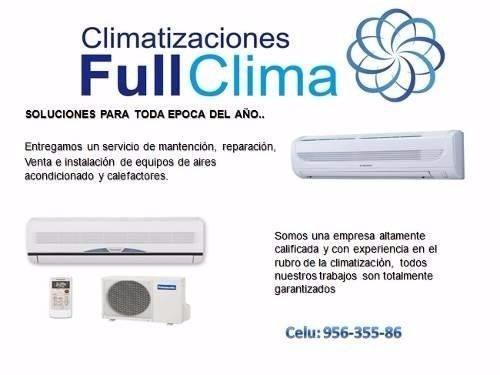 mantencion aires acondicionado, carga, instalación