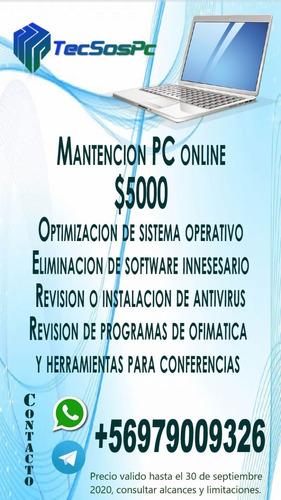 mantencion, chequeo y optimizacion de pc online