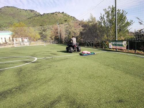 mantencion de pasto sintetico futbolito futbol baby.