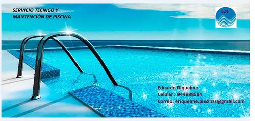 mantención de piscinas y servicio técnico