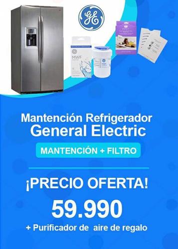 mantención refrigerador general electric side by side
