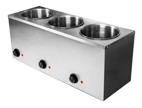 mantenedor de salsas caliente 3 cilindros de 4 lts c/u speed