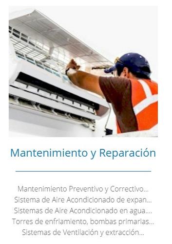 mantenimiento  aire acondicionado, instalación,refrigeracion