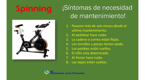 mantenimiento caminadora, spinning, elíptica