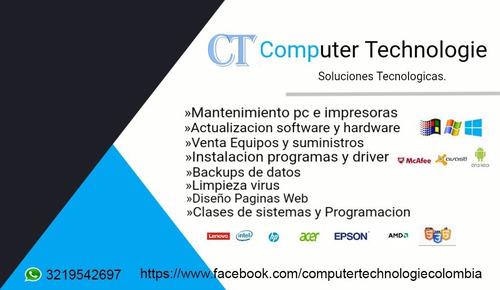mantenimiento computación y tecnología