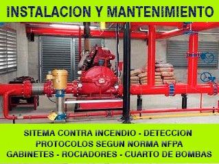mantenimiento contra incendio , electricidad, bombas de agua