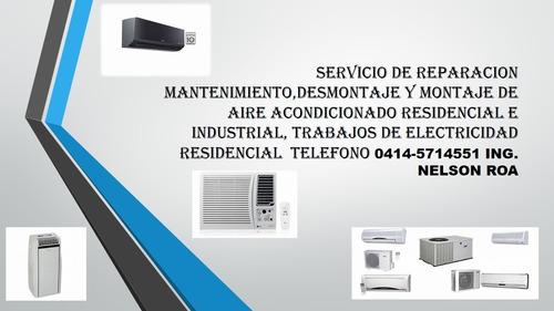 mantenimiento de aire acondicionado resisdencial y portatil