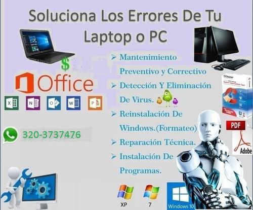 mantenimiento de computadoras a domicilio y empresas.