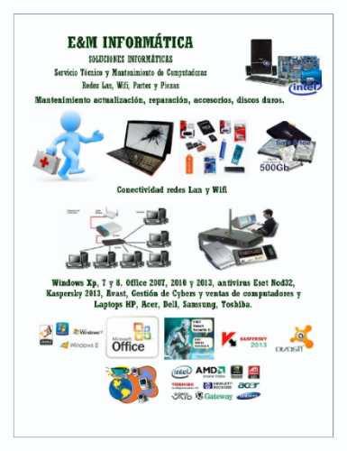 mantenimiento de computadoras, laptops -redes wifi internet