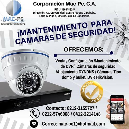 mantenimiento de dvr e instalación camaras de seguridad cctv
