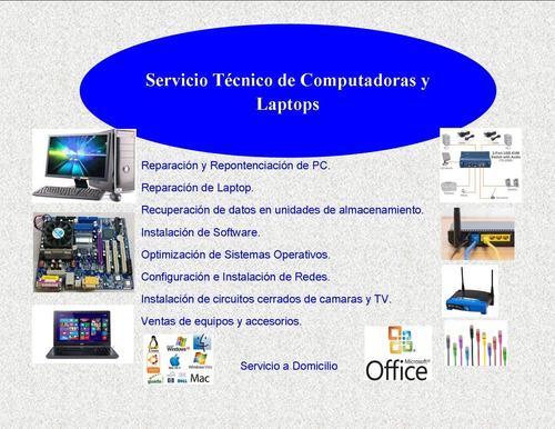 mantenimiento de pc, laptop y mini laptop a domicilio