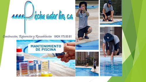 mantenimiento de piscina,construcción y ventas de productos