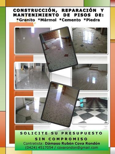 mantenimiento de pisos de granito. reparaciones.